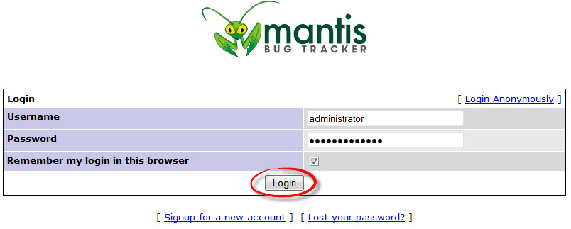 Mantis Bug Tracking System