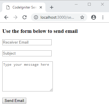 How to Send Email using CodeIgniter