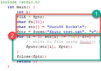 C Files I/O: Create, Open, Read, Write and Close a File