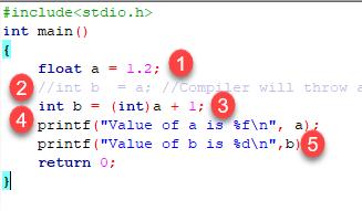 Explicit type casting example