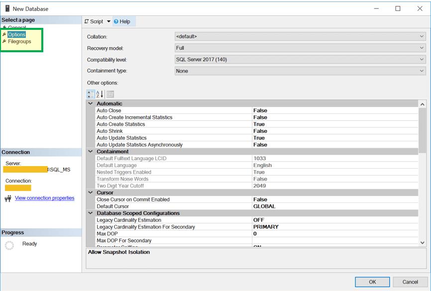 SQL Server Database: Create, Alter, Drop, Restore
