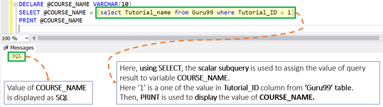SQL Server Variable: Declare, Set, Select, Global,Local [TSQL Examples]