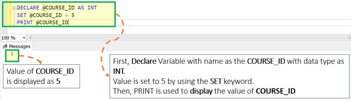 SQL Server Variable: Declare, Set, Select, Global,Local