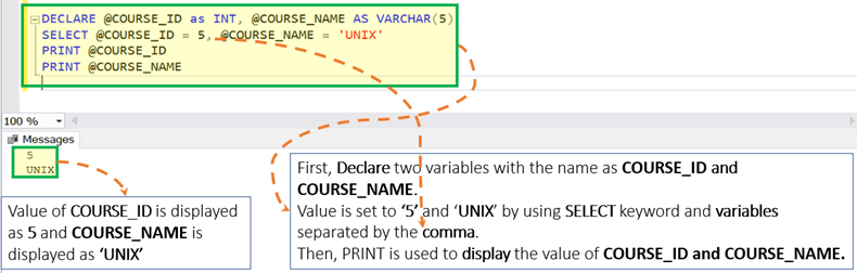 SQL Server Variable: Declare, Set, Select, Global,Local