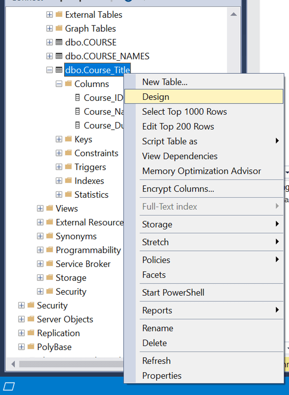 Sql Server Table Create Alter Drop T Sql Examples