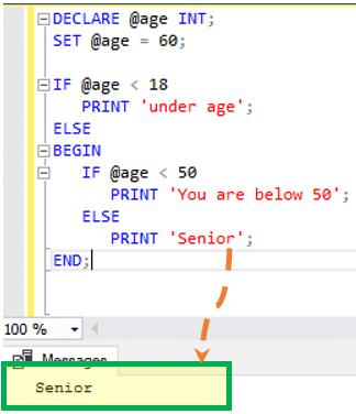 SQL Server IF…ELSE Statement: T-SQL Example