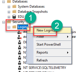 How to Create New Login in SQL Server