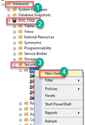 How to Create User in SQL Server Management Studio