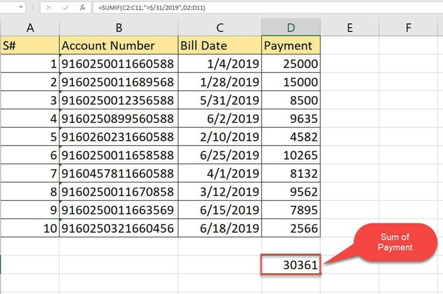 SUMIF function in Excel: Learn with EXAMPLE