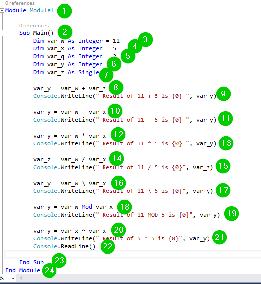 VB Net Operators: Arithmetic, Comparison, Logical with EXAMPLES