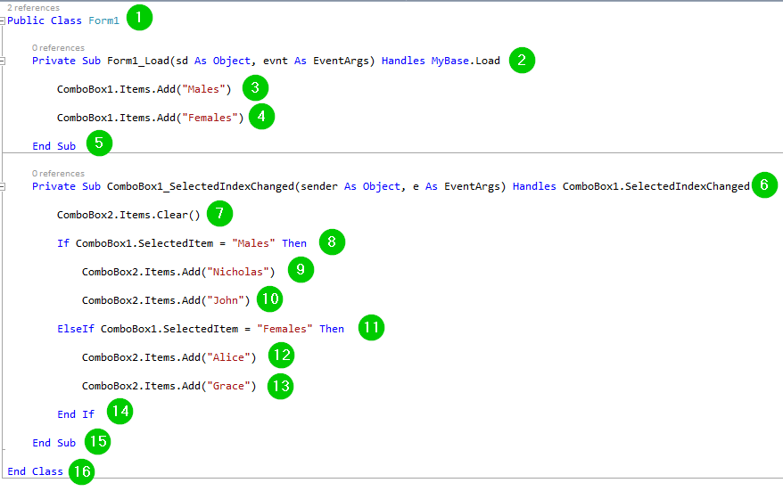 VB Net ComboBox Control with EXAMPLE