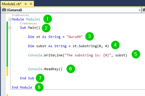 VB NET Substring Method with EXAMPLE