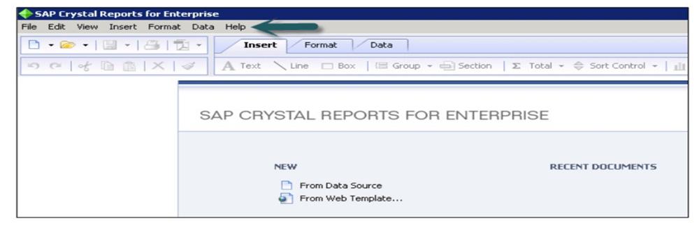 Crystal Reports GUI Navigation