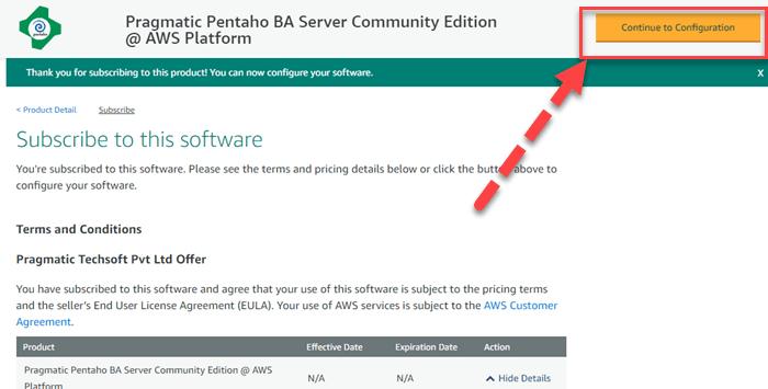 Install Pentaho in AWS