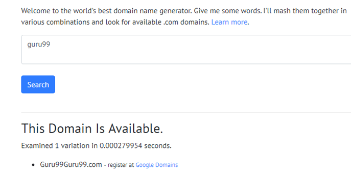 Top 22 Best Domain Name Generators in 2019