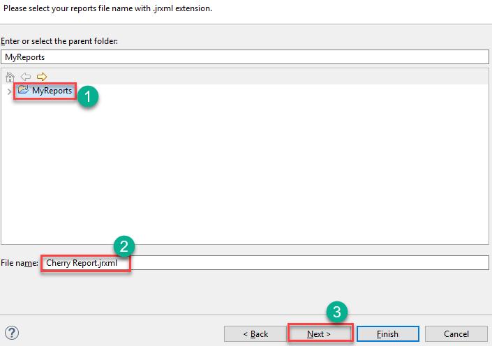 Selecting a parent folder