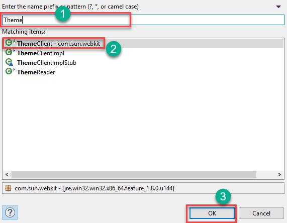 Entering prefix or pattern