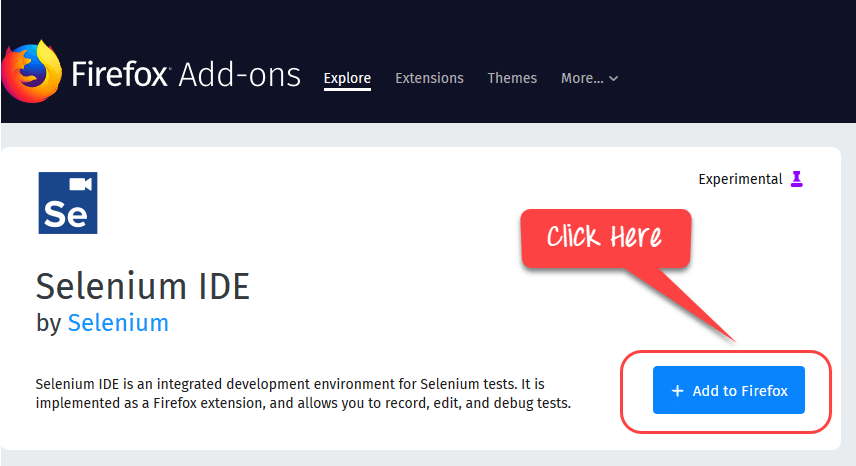 How to Download & Install Selenium IDE for Firefox