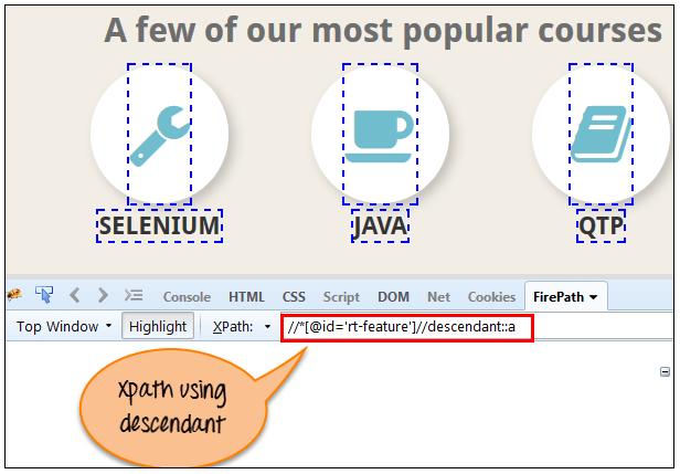XPath using Descendant