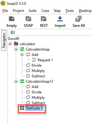 Steps for Creating Test Suite in SoapUI