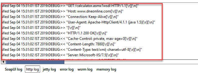Http Log in SoapUI