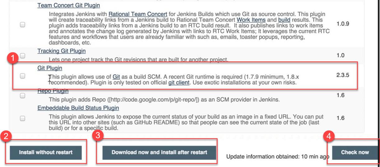 Jenkins GitHub Integration: Install Git Plugin