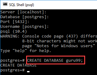 PostgreSQL CREATE DATABASE with Example
