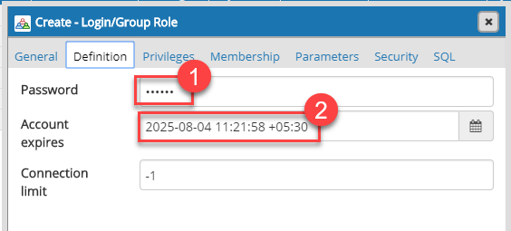 PostgreSQL Create, Alter, Add, Drop USER