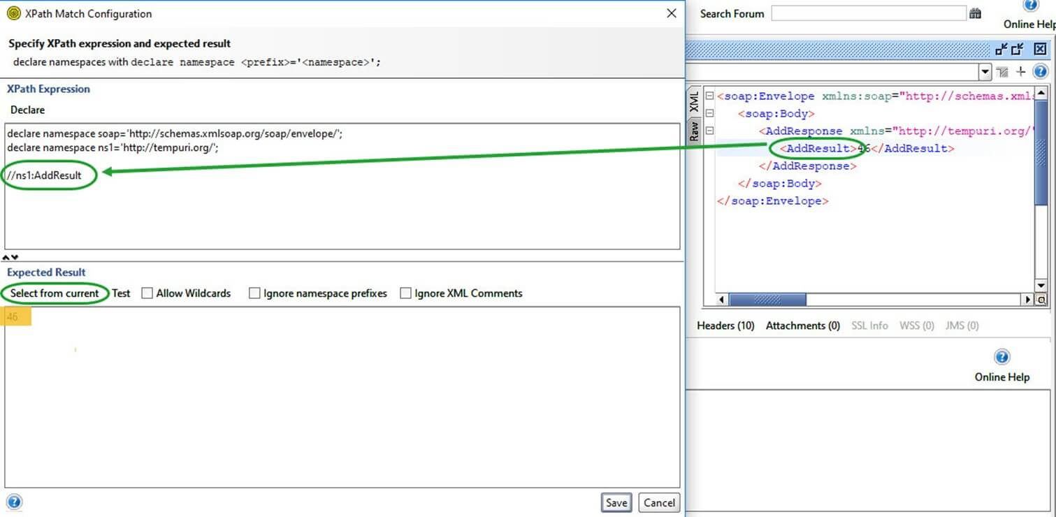 SoapUI XPath Match Assertion Example