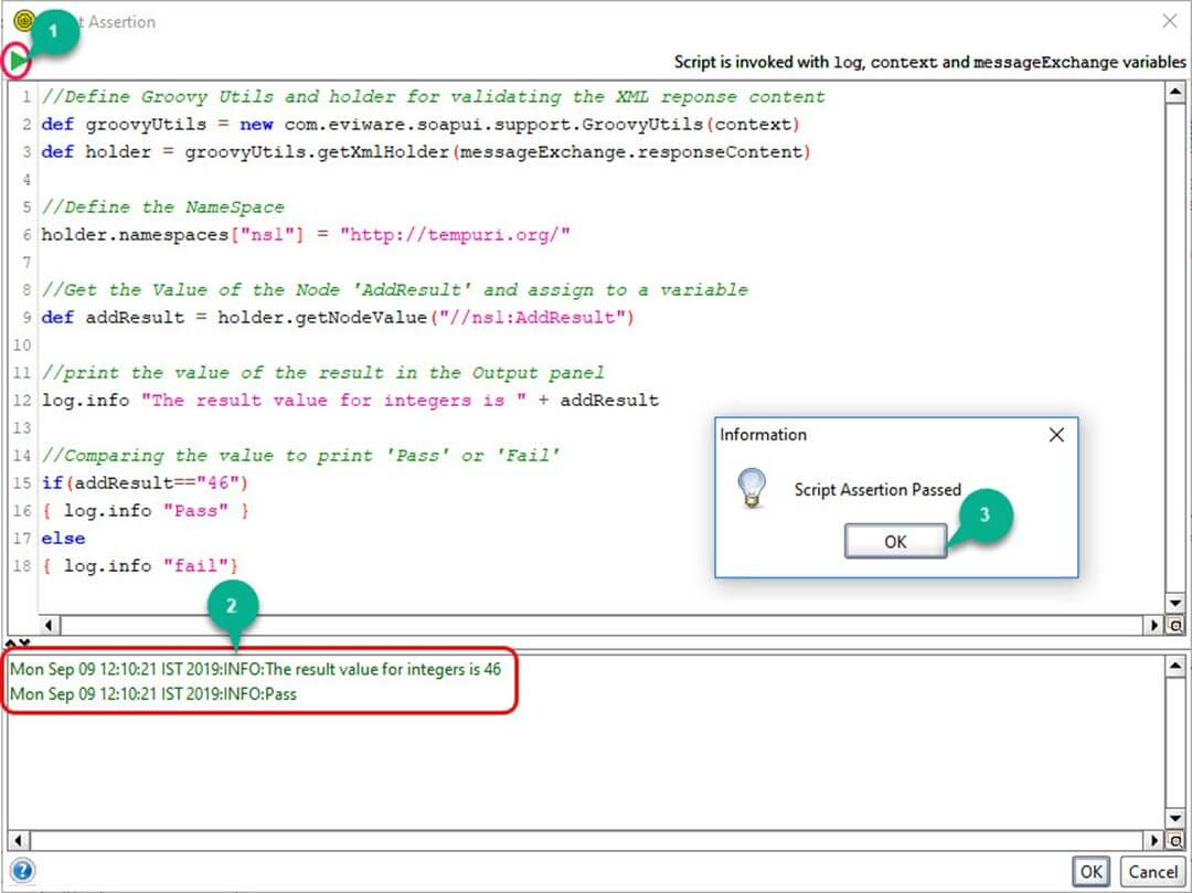 Example of Scripting Assertions in SoapUI