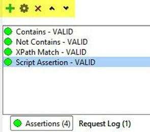 Assertions Options in SoapUI