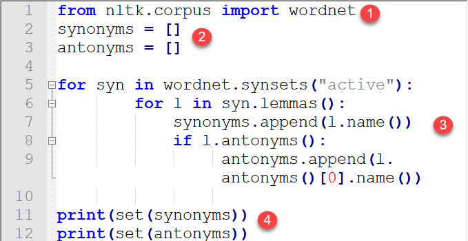 WordNet with NLTK: Finding Synonyms for words in Python