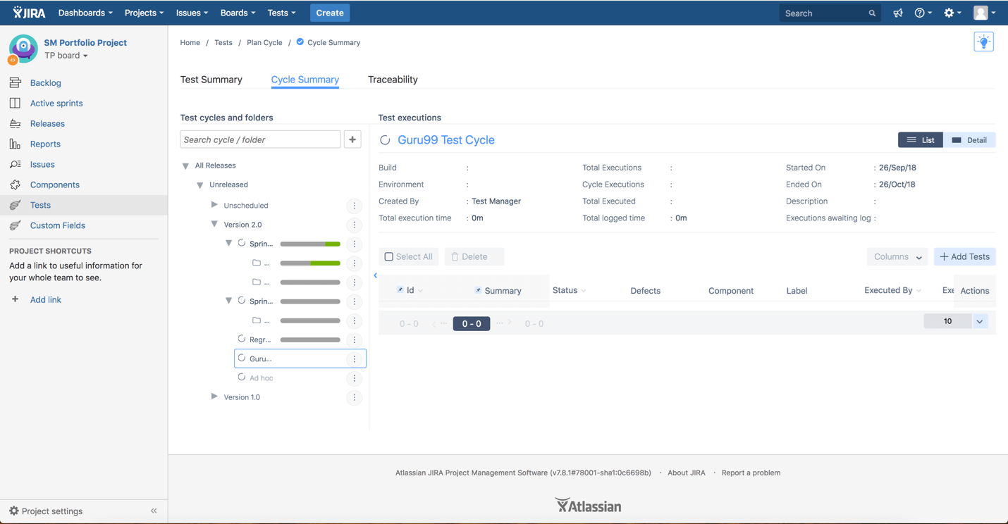 Zephyr for JIRA Tutorial: Test Management Tool