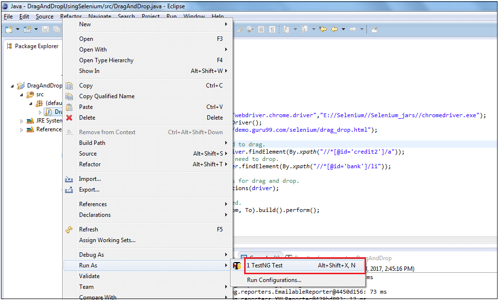 How to Drag and Drop in Selenium WebDriver (EXAMPLE)