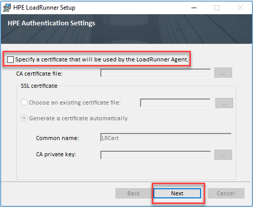 Install HP LoadRunner