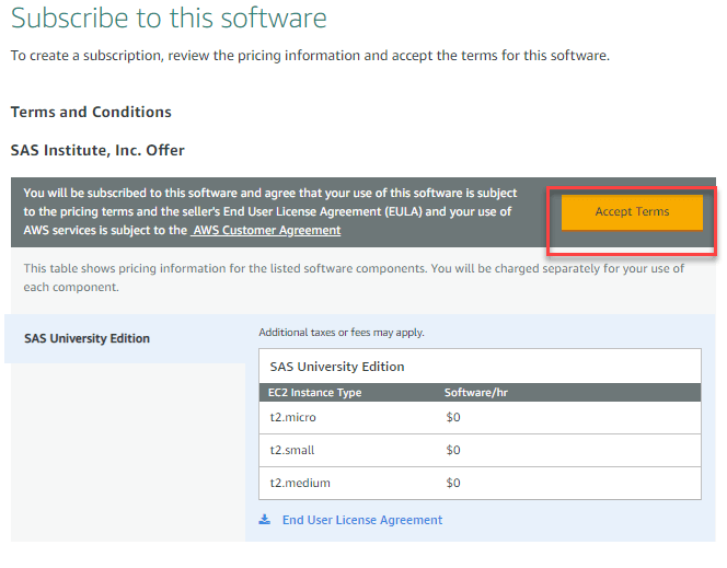 Downloading and installing SAS in AWS