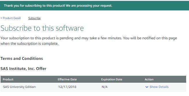 How to install SAS in AWS