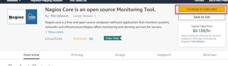 Install Nagios tool at AWS