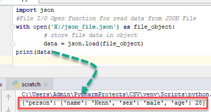 Parsing JSON file in Python Example