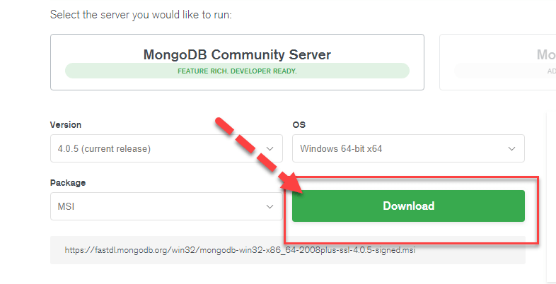 mongodb for windows 10 64 bit free download