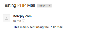 How to Send Email using PHP mail() Function