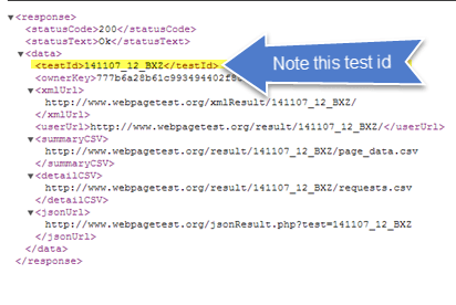 How to use WebPagetest API