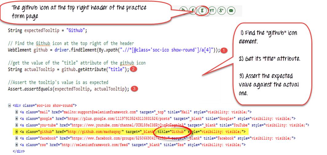 How to Verify Tooltip using Selenium WebDriver