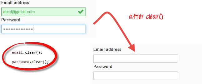 Selenium Form WebElement: TextBox, Submit Button, sendkeys(), click()