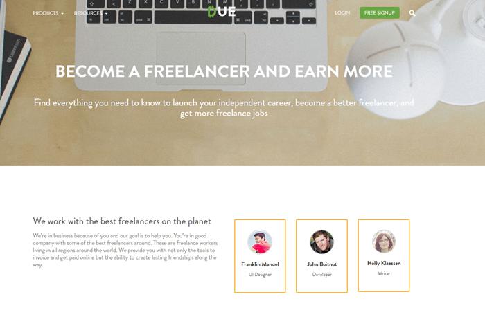 Due freelancer website