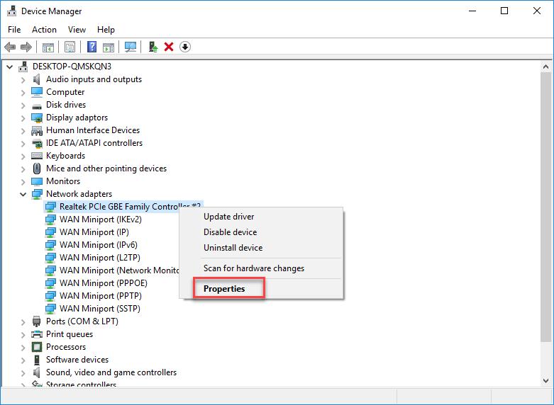 change MAC address in Windows