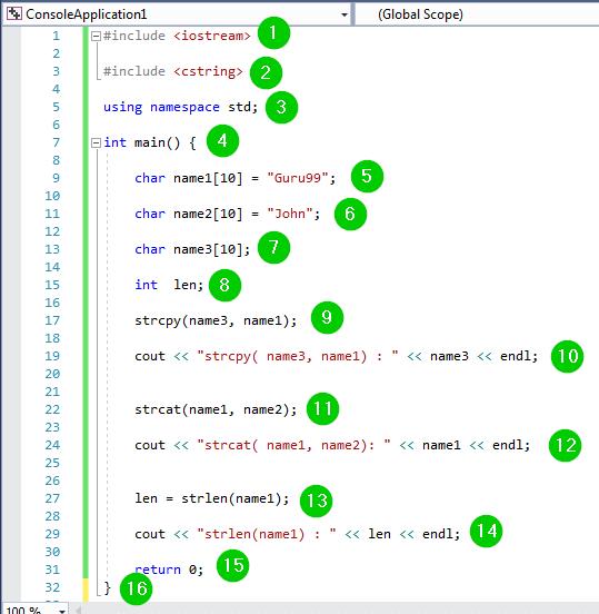 C++ Strings: strcpy(), strcat(), strlen(), strcmp() EXAMPLES