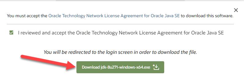 Download & Install Java JDK 8