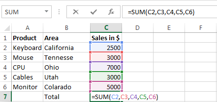Excel Formula Interview Questions