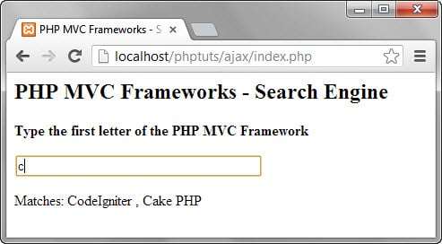 How to create PHP Ajax  based Application
